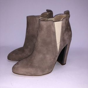 🆕 Suede Bootie in Taupe